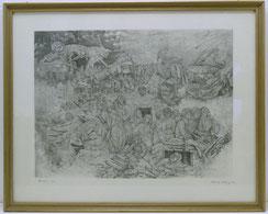 "Grafik, Alfred Kitzig, 1963, ""Frieden 1945"", signiert , € 350,00"