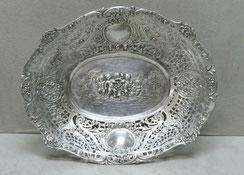 Durchbruchkorb, 800er Silber, Putten, Rosen, Engel, 266 g., 25,5 cm, € 266,00