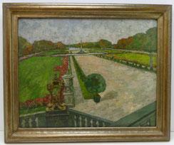 August von Brandis,Nymphenburger Schlosspark, München, Öl auf Leinwand, Parterre, € 1700,00