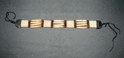 Native American,Man´s Choker,Büffelknochen,handgeschnitzt, Amber,Messing,31,5 cm, € 295,00