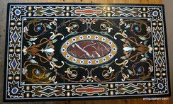 Pietra Dura italienische Tischplatte 150 x 90 cm Steinintarsien . € 1950