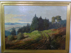 Hein Hoppmann, Gebirgslandschaft, großes Gemälde auf Holzplatte, 1942 , € 680,00
