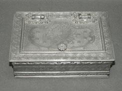 Zigarrendose, Zinn, Historismus, Neorenaissance, 1890, 1,5 kg , € 165,00