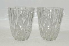 Ein Paar Glasvase, France, geschwungene, gedrehte Form, 13,0 cm, Ø 11,2 cm, € 65,00