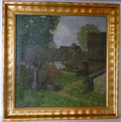 Alfred Holler 1888-1954, Öl auf Leinwand, Bauernhaus in Ligneuville , € 1450,000
