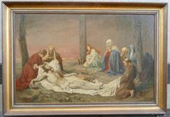 Kreuzesabnahme Jesu, Nazarener Malerei, 19. Jahrhundert, 106 x 68 cm, € 2400,00