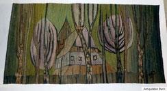 Webteppich, 60er Jahre, Polen, H. Sulkowska, 170,0 cm x 89,0 cm, € 700,00