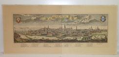 Details zu  Panorama Ansicht Königsberg, F.B. Werner, Alter Stich coloriert, Kaliningrad, € 450,00