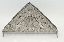 Serviettenhalter, Blumenboquet 800er Silber, 17,0 x 3,0 x 10,0 cm, € 145,00