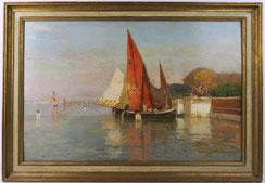 Manuel Wielandt, Bacino di San Marco, Venedig, 1897, Öl auf Holz, 54 cm x 35 cm,€ 2600,00