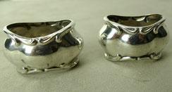 2 x Serviettenring, Barocke Form, oval, 835er Silber, Monogrammiert,5,5 x 3,8 cm, € 98,00