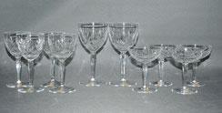 Konvolut,10 x geschliffene Kristall Gläser, Wein, Likör, Südwein, Franz Wittwer, , € 50,00