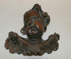 Putte Engel Barock Lindenholz, dunkel gebeizt, 19,5 cm, € 280,00
