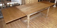Großer Eichen Tisch, Einsteckplatten, 280 x 93 cm, Altes Holz, , € 1650,00