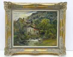 Carl Ebert,1876, München, Mühle am Bach, Öl auf Leinwand, 43,0 cm x 35,0 cm,€ 2300,00