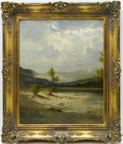 Fritz Halberg-Krauss 1874-1951, Münchner Malschule, Isartal, 14,5 x 51,0 cm, € 1100,00