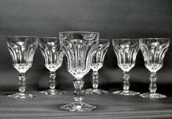 Val St. Lambert, 6x Wein Gläser,Lalaing,Eingestochene Luftblase,Kristall,12,5cm, € 414,00