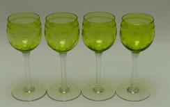 1. von 4. Südwein Glas, grüne Kuppa, geätzt, mundgeblasen, 16,5 cm, 150 ml, € 32,50