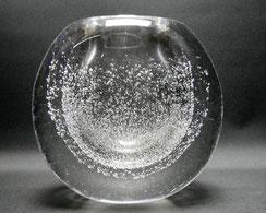 Dickwandige Vase mit Lufteinschlüssen,mundgeblasen, 60er Jahre, 8,2 kg schwer , € 420,00