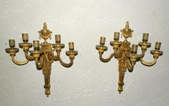 Paar große Wandappliken Louis Seize, Bronze 18. Jahrhundert,, € 3200,00