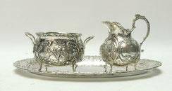 Milch und Zucker Set mit Tablett, 800er Silber, 446,0 g., € 446,00