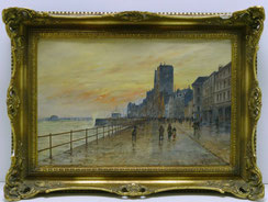 Uferpromenade, Ostende,Belgien, Öl auf Leinwand, sign. H. Killian Aachener Maler , € 420,00