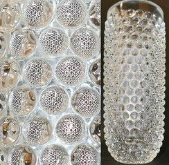 Ichendorf, Kristallglas Vase, Bubbles, Label, 1910 g., 20,2 cm, € 295,00
