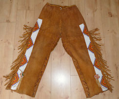 Vintage Native american beaded Rehlederhose,Deerskin pants, € 580,00