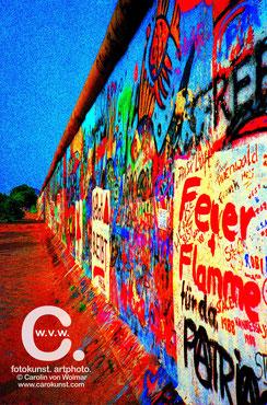 """Die Mauer"" 50x70 cm, limitierte Fotokunst, 20 Expl."