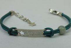 Bracelet enfant - bracelet naissance - bracelet baptème -Bracelet avec prénom et étoile