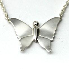 Pendentif enfant - bijoux enfant - pendentif papillon - papillon en argent