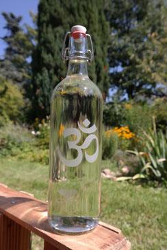 om Freiglas trinken glasflasche trinkflasche liebe geschenk hochzeit design flasche  gravur 1 Liter 1000ml wasser