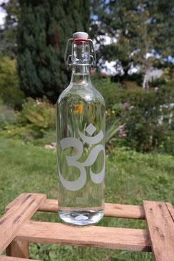 om freiglas 1liter 1000 ml soulbottle wasser energetisierung energetisieren wasserstruktur weihnachten handarbeit