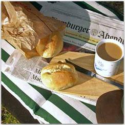Relaxwochen: Morgens frische Brötchen und Tageszeitung inclusiv