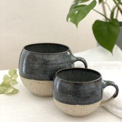 Spots Cups 500 ml blaugrau, ©Keramikatelier Sabine Schönbohm