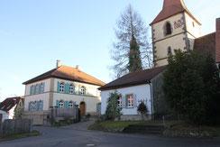 Kirche und Pfarrhaus Ohrenbach