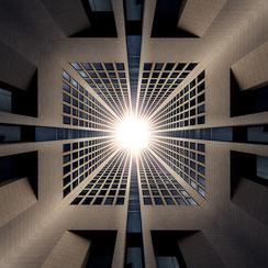 Kaleidoskop-Composing vom Opernturm in Frankfurt am Main