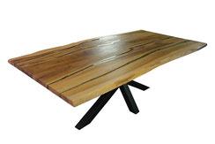 Esstisch-aus-Esche-mit-Gestell-aus-feinem-Holz