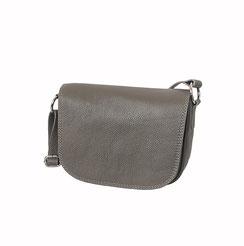 Leder Tasche taupe grau EM-EL Collection