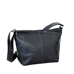 Leder Tasche schwarz Leather bag black EM-EL Collection