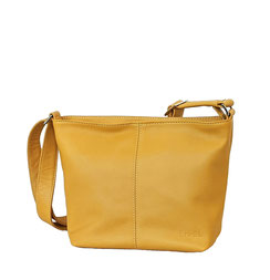 Leder Tasche gelb EM-EL Collection Leather Bag