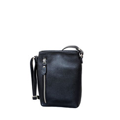Leder Tasche schwarz Leather bag black red blue EM-EL Collection Schweiz