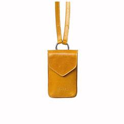 Telefon Handy Tasche Leder gelb Schweiz EM-EL Collection