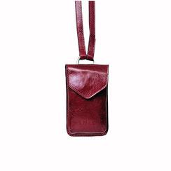 Telefon Handy Tasche Leder dunkelrot Schweiz EM-EL Collection