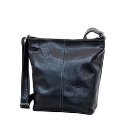 Leather Bag Leder Tasche schwarz EM-EL Collection