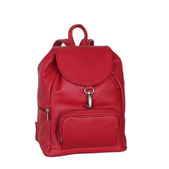 Leder Rucksack rot EM-EL Collection