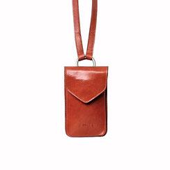 Telefon Handy Tasche Leder orange Schweiz EM-EL Collection