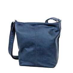 Leder Tasche blau Leather bag blue EM-EL Collection