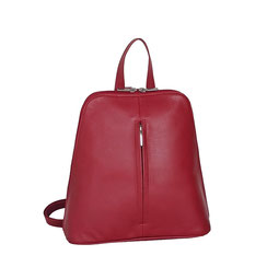 Leder Rucksack rot EM-EL Collection Leather Backpack