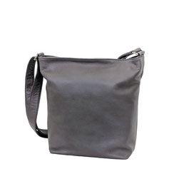 Leder Tasche grau Leather Bag grey EM-EL Collection